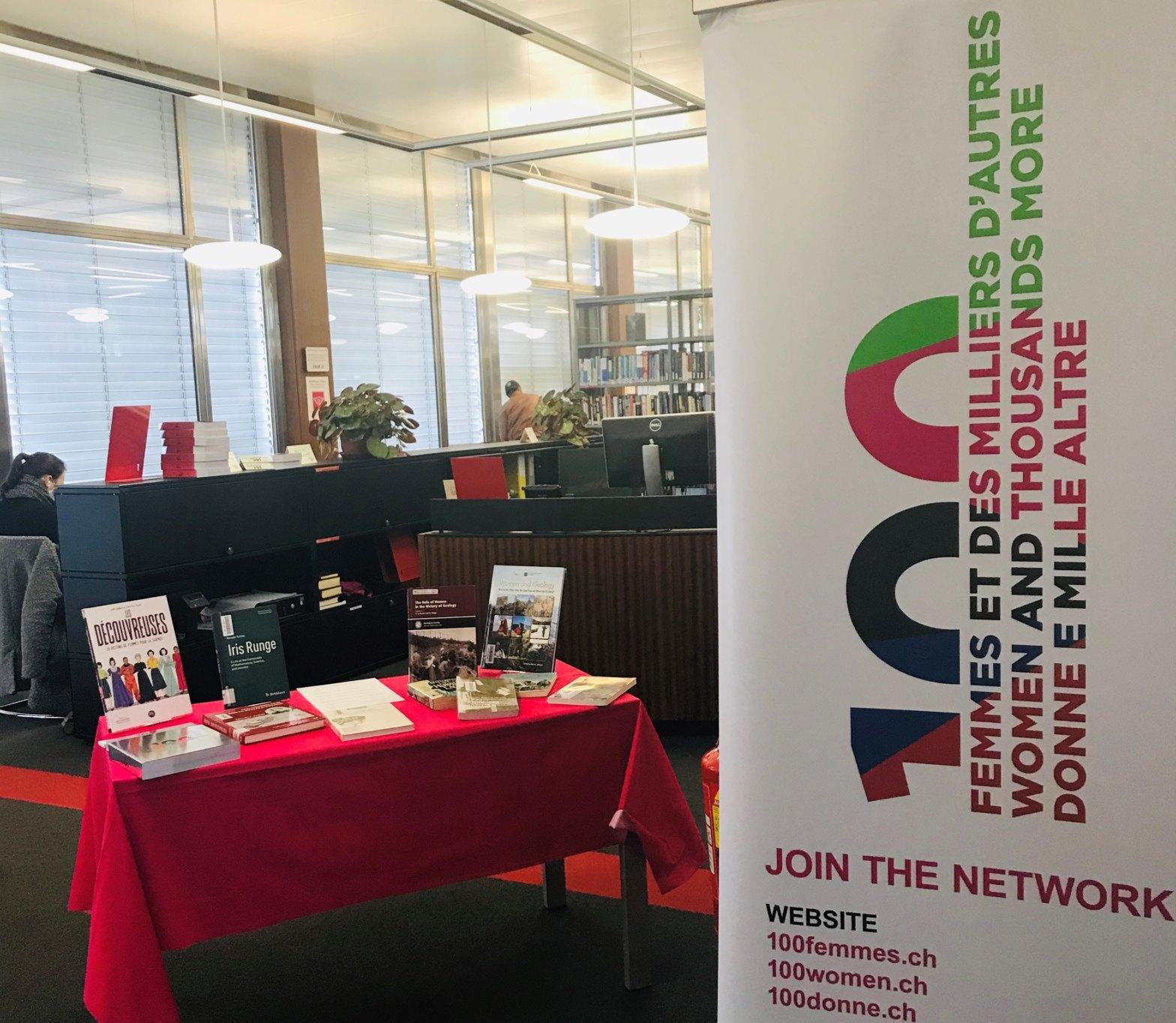 Le projet 100 femmes en tournée dans les bibliothèques de l'UNIGE